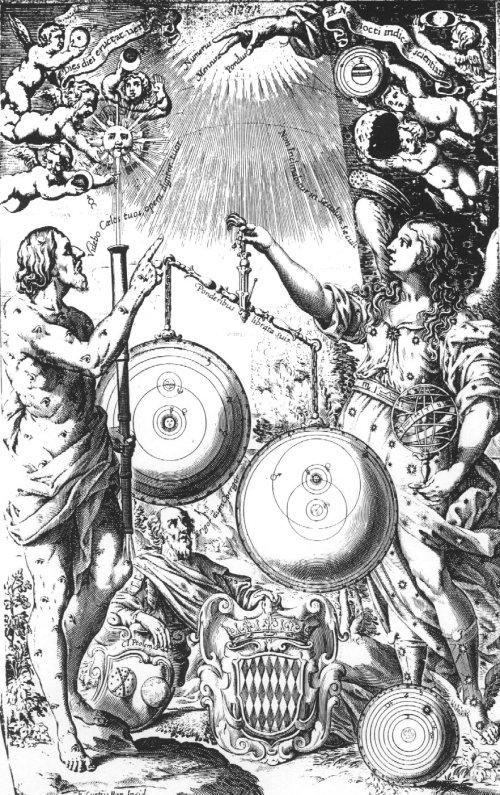 Title page Riccioli's Almagestum Novum (1651)