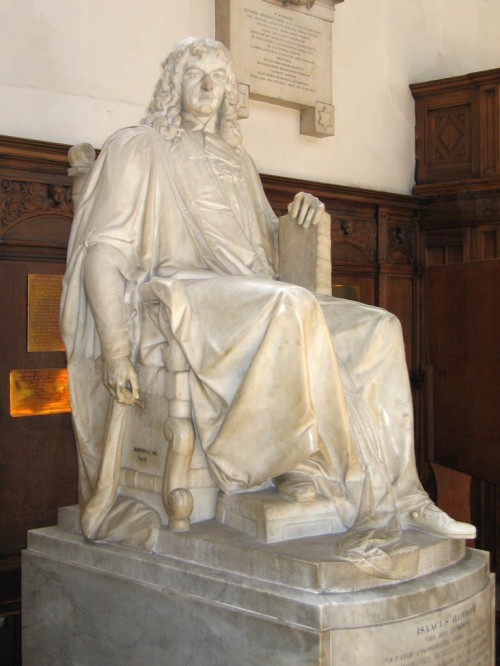 Statue of Isaac Barrow in the Chapel of Trinity College