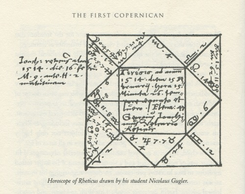 Rheticus' Horoscope taken from Danielson The First Copernican p. 16