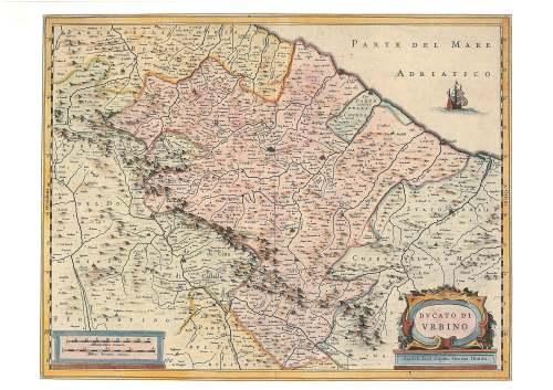 Duchy of Urbino  Henricus Hondius 1635