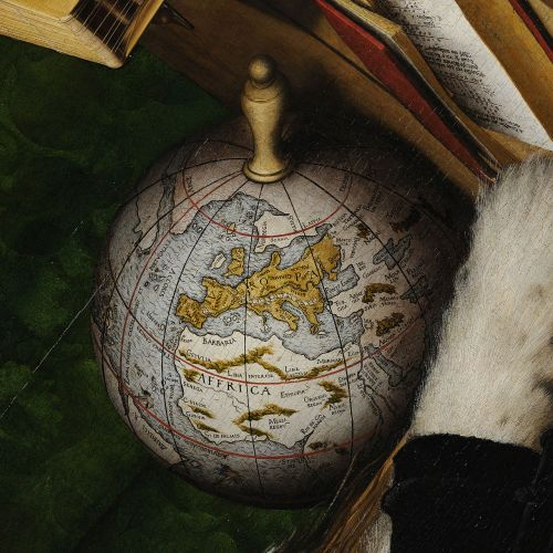 Schöner Globe, Holbein's The Ambassadors 1533 (Wikipedia Commons)