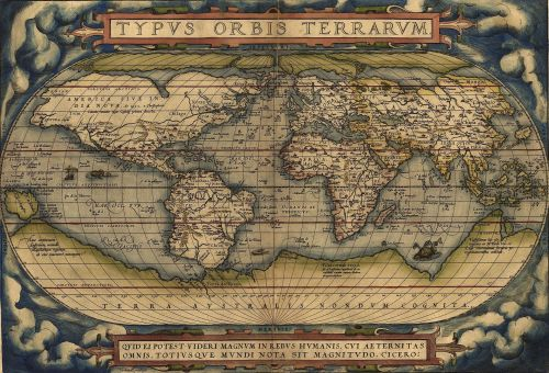 Ortelius' World Map 1564 Source: Wikimedia Commons