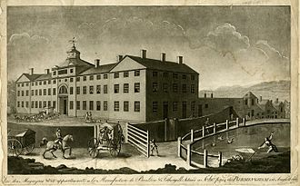 View of the manufactory of Boulton & Fothergill in Birmingham by Francis Eginton 1773 Source: Wikimedia Commons