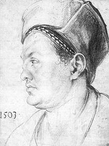 Willibald Pirckheimer, porträtiert von Albrecht Dürer (1503) Source: Wikimedia Commons