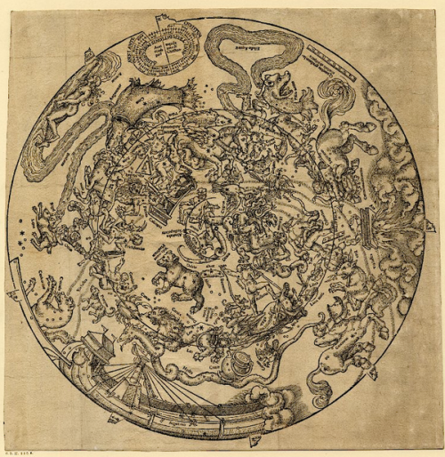 Peter Apian Star Map 1535 Source: Wikimedia Commons