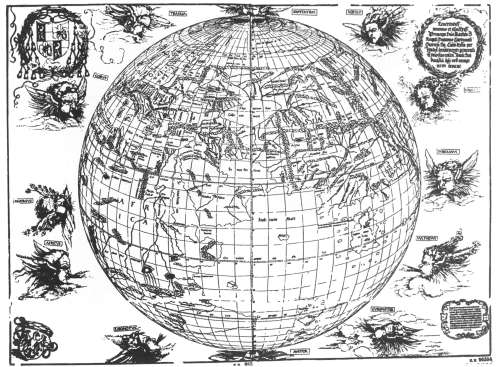 Dürer-Stabius World Map 1515 Source: Astronomie in Nürnberg