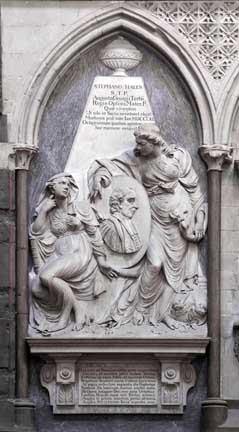 Stephen Hales monument Westminster Abbey Copyright: Westminster Abby