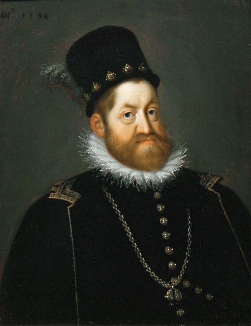 Rudolph II portrait by Joseph Heinz the Elder Source: Wikimedia Commons