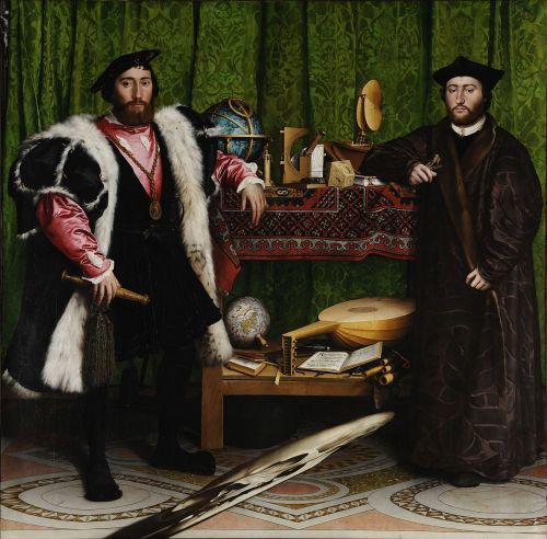 Hans Holbein The Ambassadors Source: Wikimedia Commons