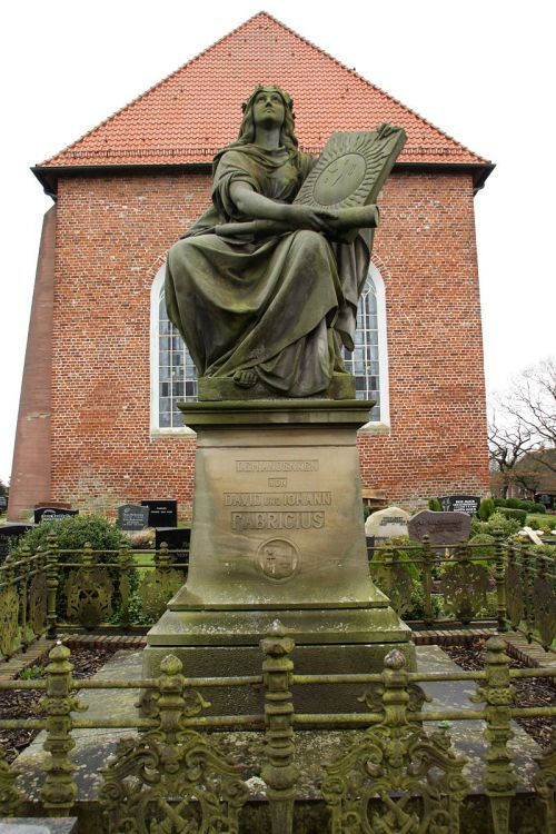 Monument for David and Johann Fabricius in the Graveyard of Osteel