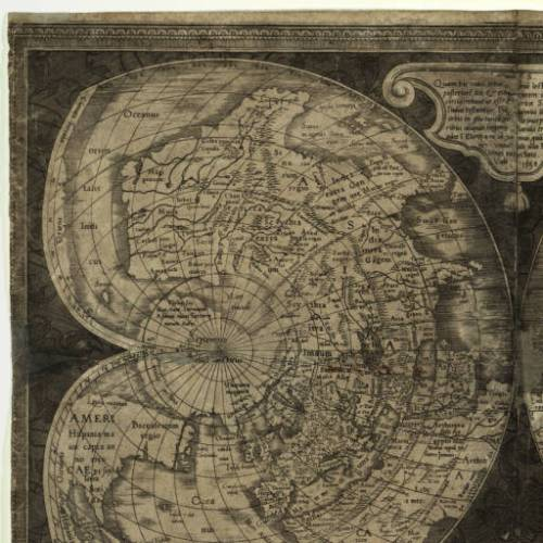 Mercator cordiform world map 1538 Source: American Geographical Society Library