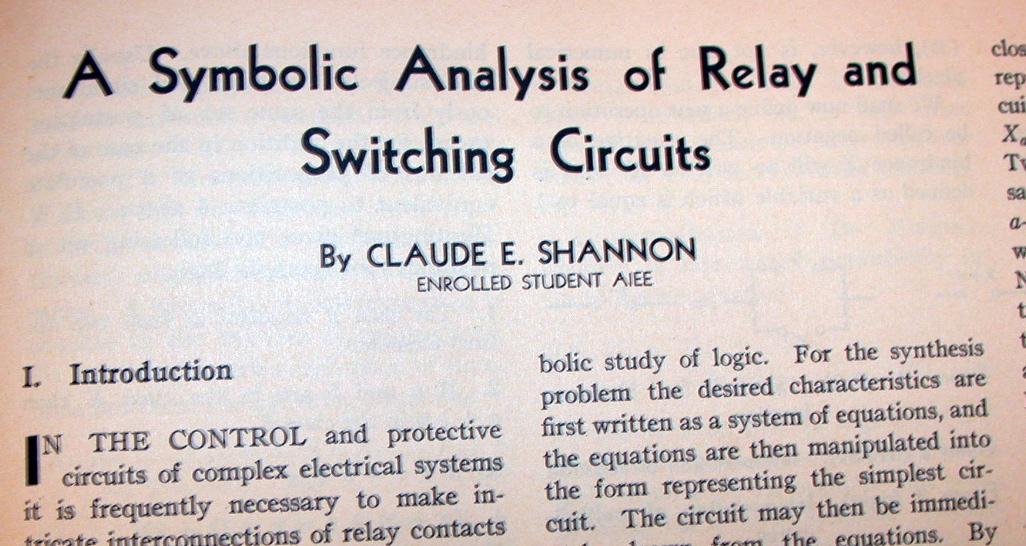 Boole, Shannon and the Electronic Computer | The Renaissance ...