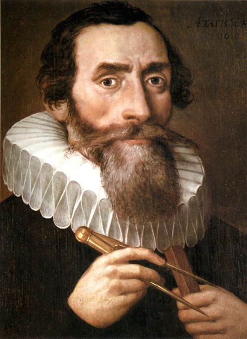 Portrait of Kepler by an unknown artist, 1610 Source: Wikimedia Commons