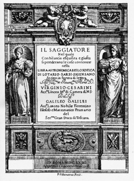 Title page Il Saggiatore !623 Source: Wikimedia Commons