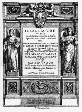 Title page Il Saggiatore !623 Source: Wikimedia Commons