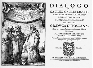 Frontispiece and title page of the Dialogo, 1632 Source: Wikimedia Commons