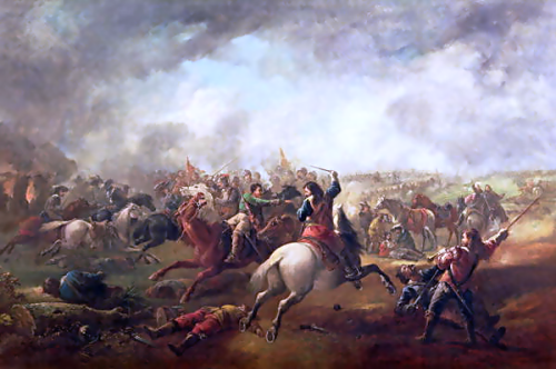 The Battle of Marston Moor 1644, by J. Barker Source: Wikimedia Commons