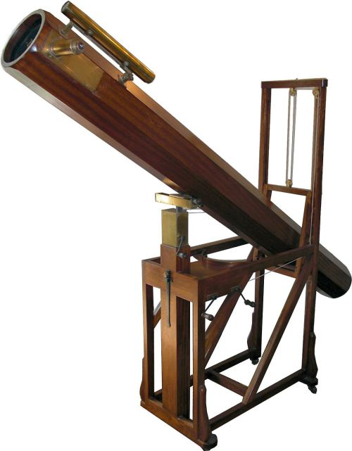Replica of a Herschel Newtonian Reflector. Herschel Museum Bath Source: Wikimedia Commons