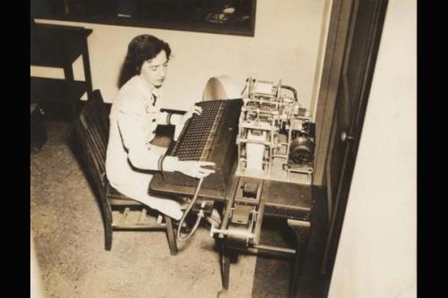 Grace Hopper working on the Harvard Mark I Source: Harvard Gazette
