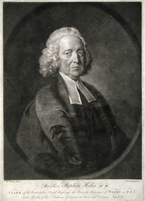 Dr Stephen Hales FRS (1677-1761) Source