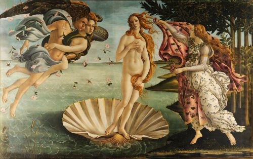 The Birth of Venus, by Sandro Botticelli c. 1485–1486 Source: Wikimedia Commons