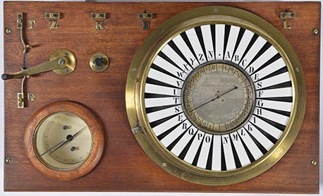 Pointer telegraph, 1847 (replica) Source: Siemens