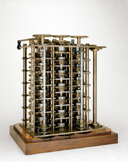 The Difference Engine model used by Babbage for his demonstrations of his miracle theory Source: Wikimedia Commons