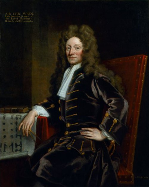 Christopher Wren by Godfrey Keller 1711  Source: Wikimedia Commons