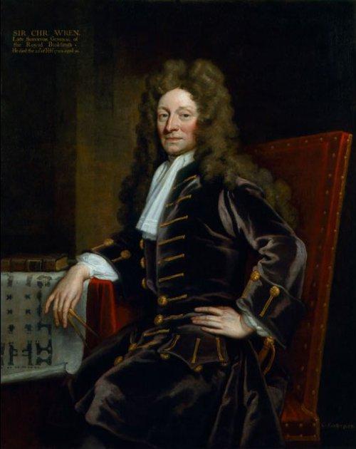 Christopher Wren by Godfrey Keller 1711  Source: Wikimedia Commons