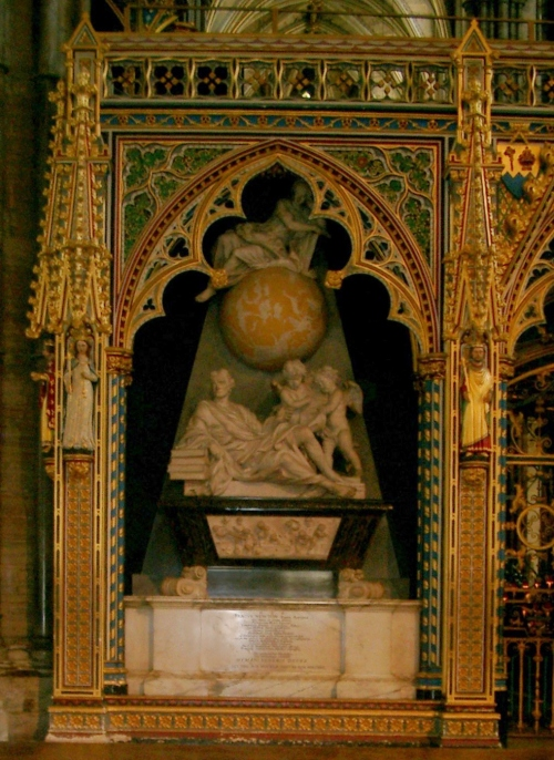 Isaac Newton's Tomb in Westminster Abbey Photo: Klaus-Dieter Keller Source: Wikimedia Commons