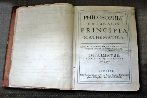 Newton's own copy of his Principia, with hand-written corrections for the second edition Source: Wikimedia Commons