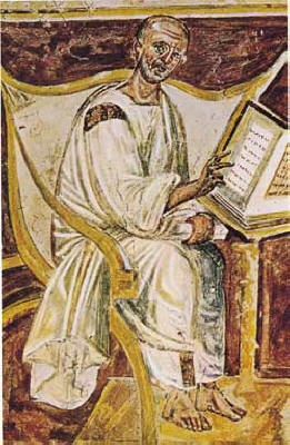 The earliest known portrait of Saint Augustine in a 6th-century fresco, Lateran, Rome Source: Wikimedia Commons