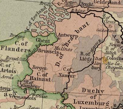 Duchy of Brabant 1477 Source Wikimedia Commons