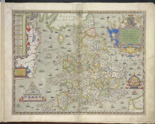 Saxton1 map England Royal MS 18 D lll no 5