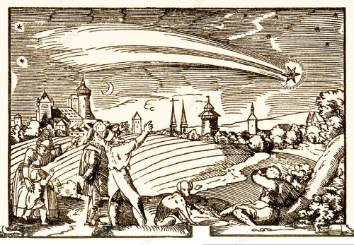 Great comet of 1577, historical artwork