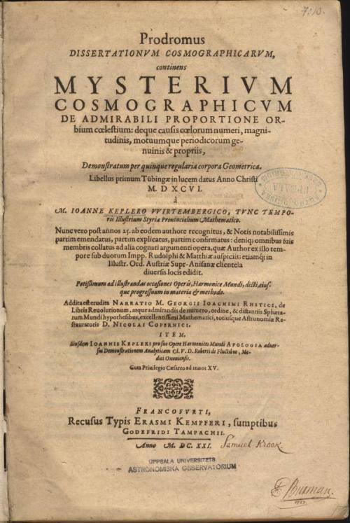 Kepler-MysteriumCosmographicum