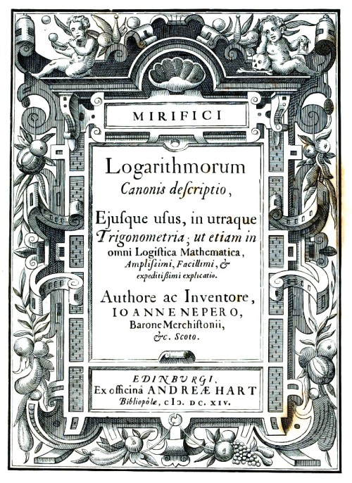 Logarithms_book_Napier