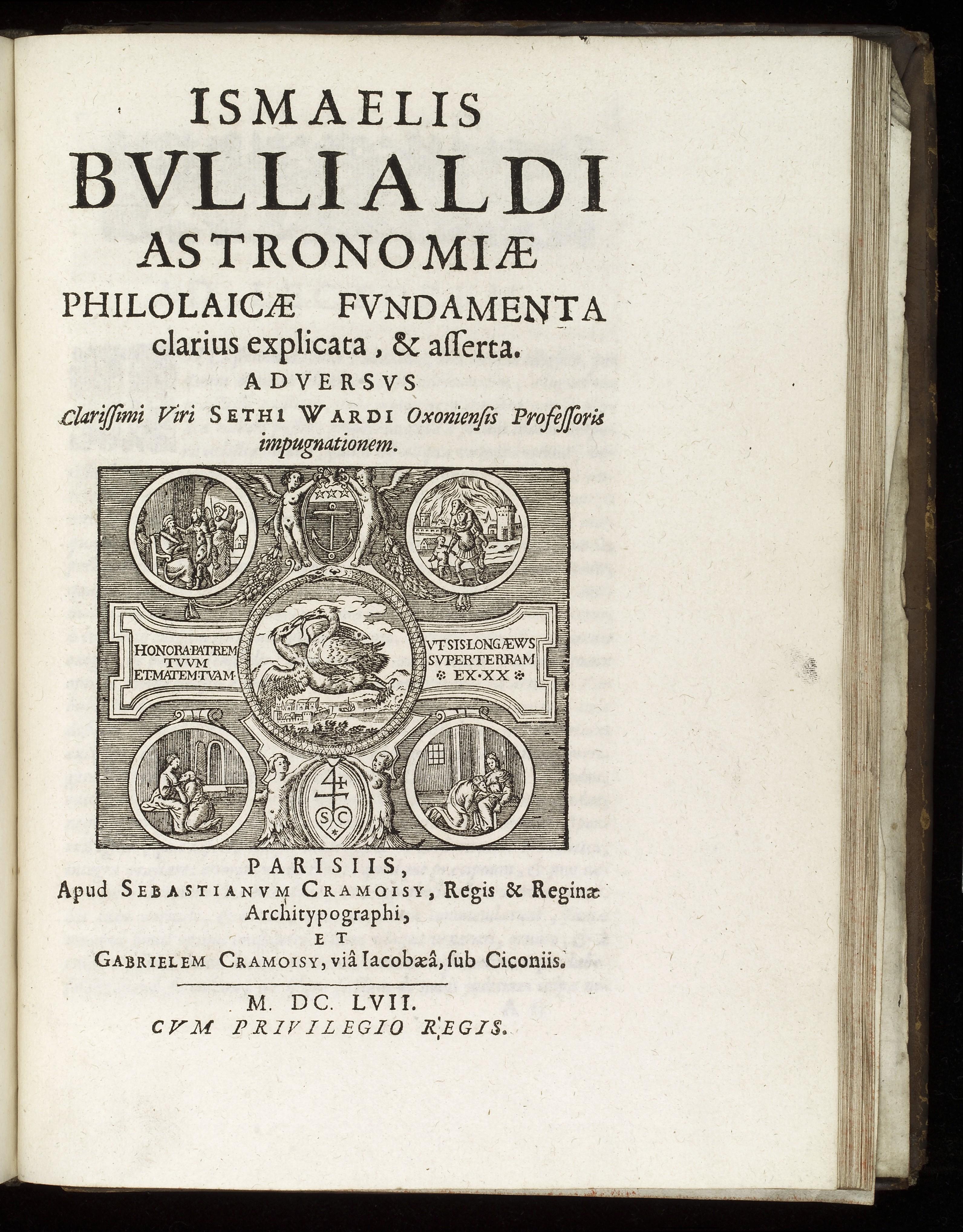 L0040222 Title Page of 'Astronomiae Philolacae Fundamenta'