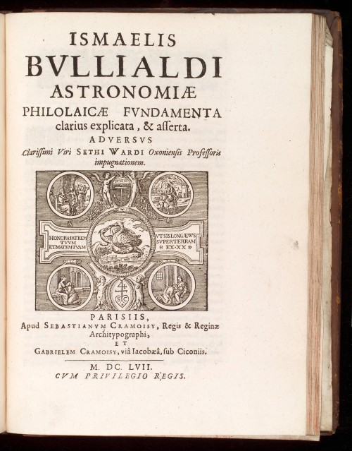 L0040222 Title Page of 'Astronomiae Philolacae Fundamenta'