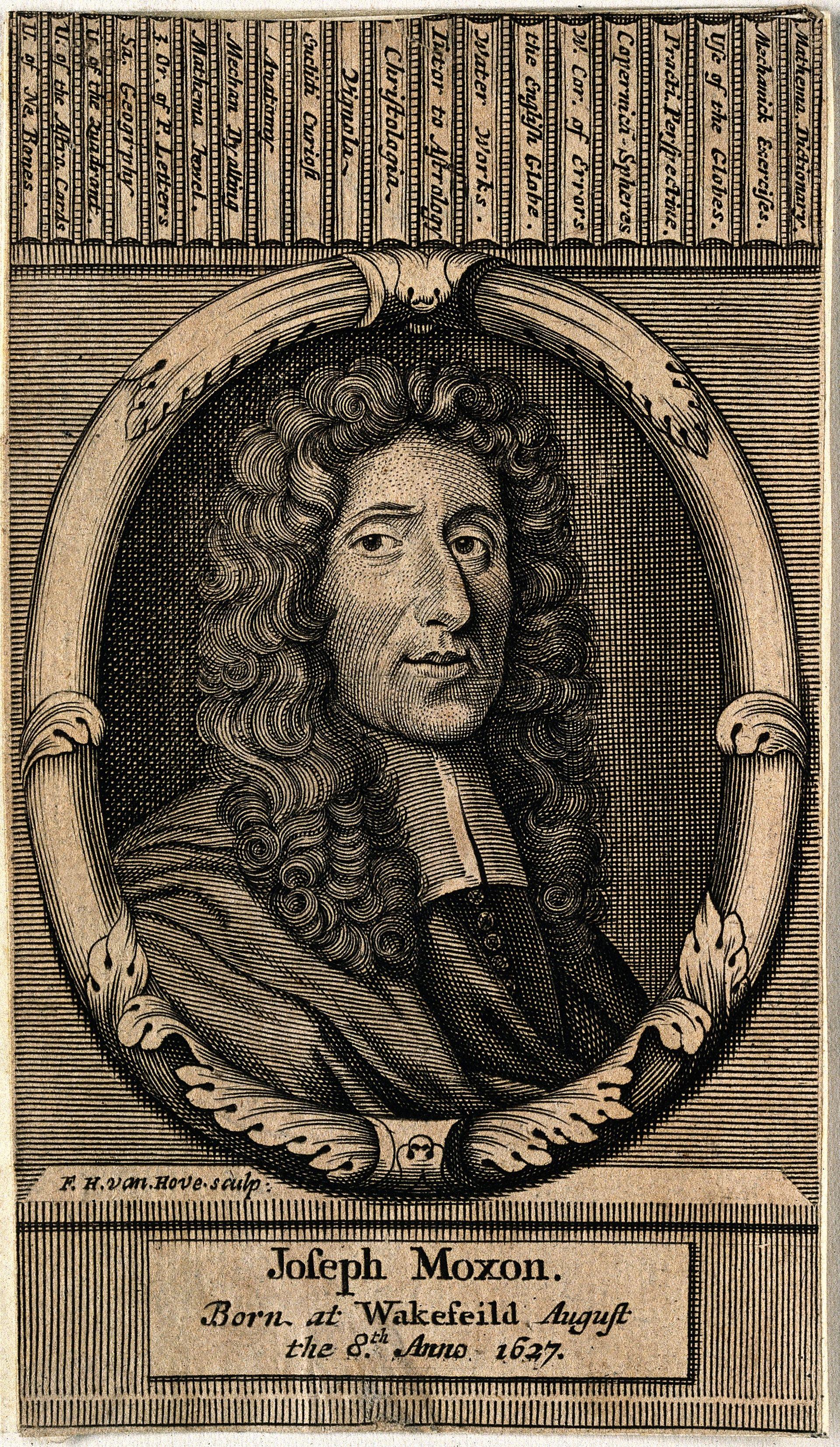 Joseph_Moxon._Line_engraving_by_F._H._van_Hove,_1692._Wellcome_V0004151