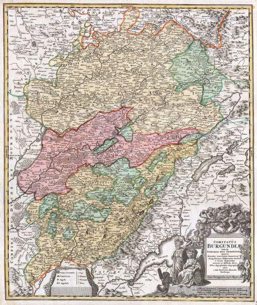 1716_Homann_Map_of_Burgundy,_France_-_Geographicus_-_Burgundiae-homan-1716-2